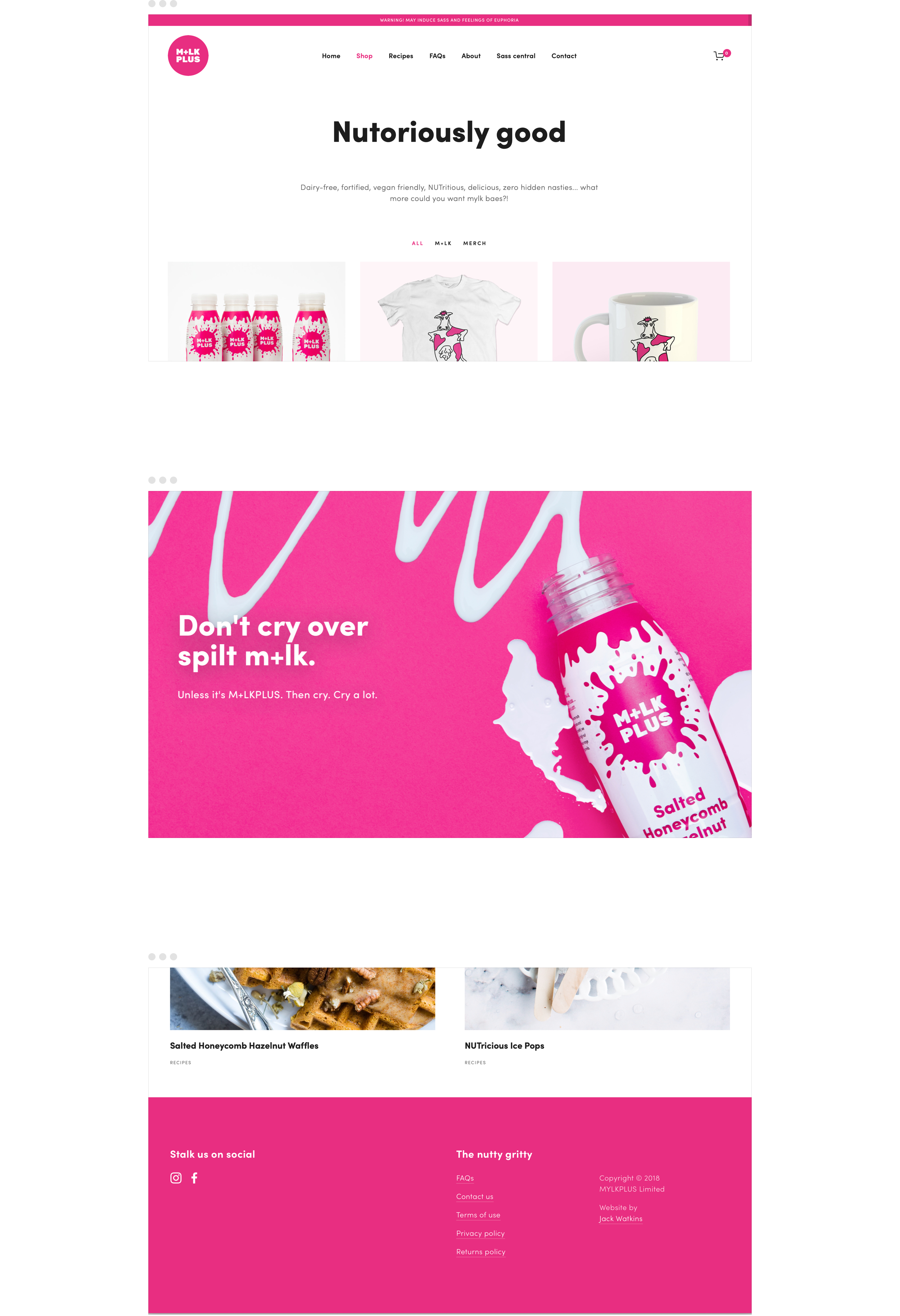 Responsive website design for M+LKPLUS