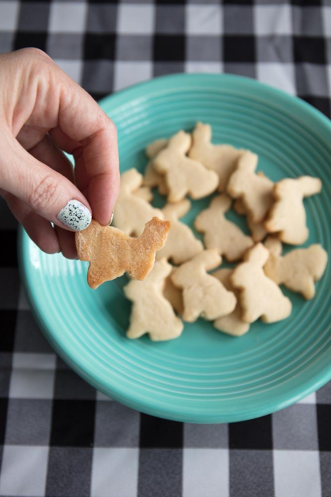 baked vegan bunny cookies