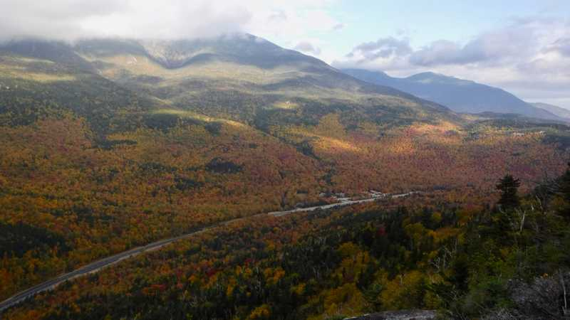 Pinkham Notch in autumn colors
