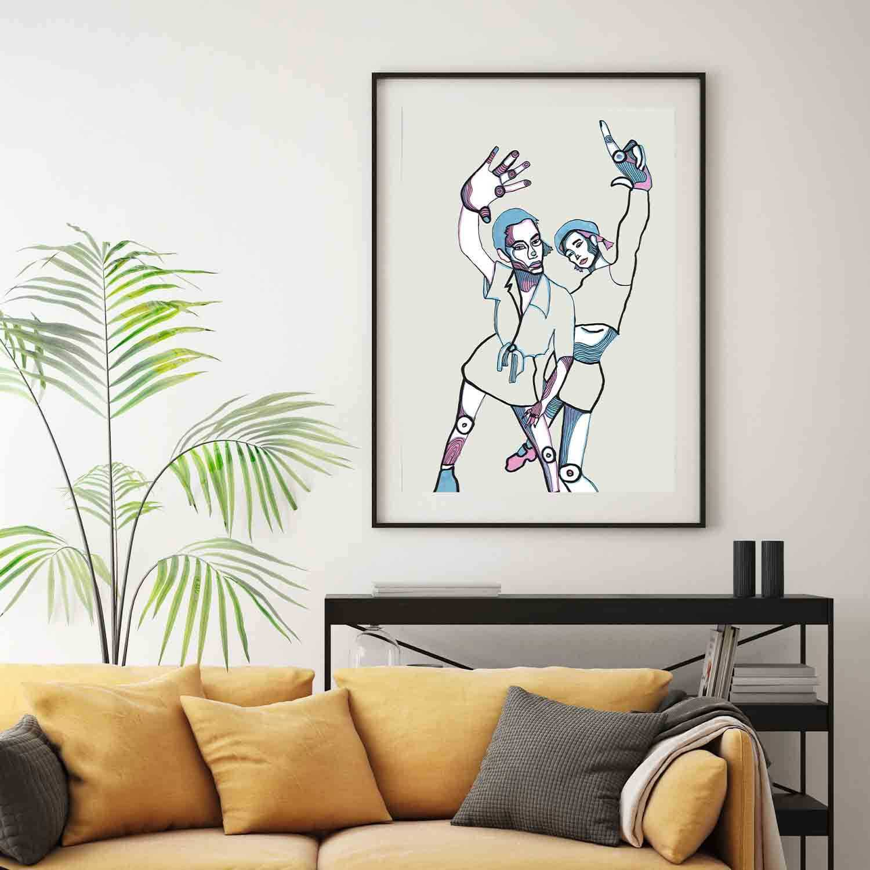 'Girls Club' Giclée Art Print