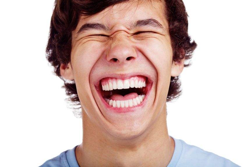 Man laughing