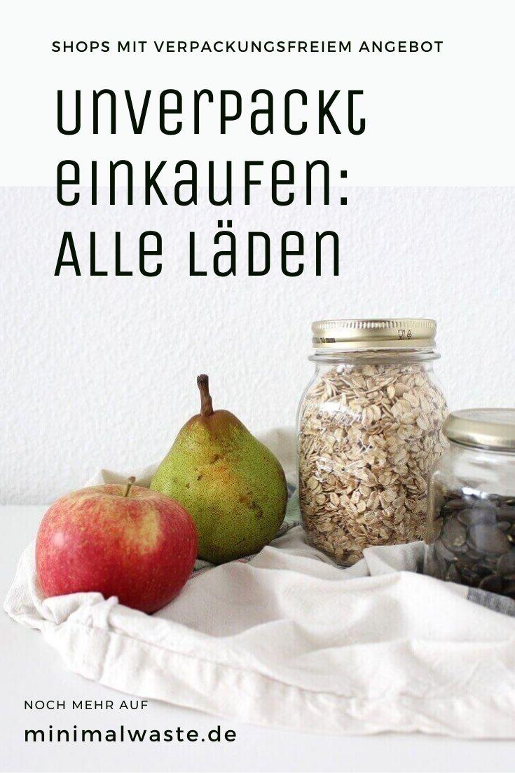 Pinterest Cover zu 'Unverpackt einkaufen: Alle Läden'