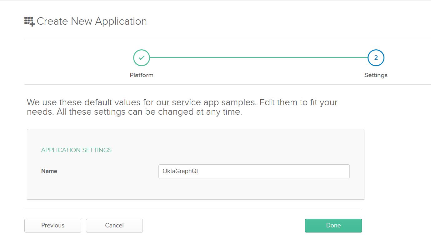 Okta App Settings