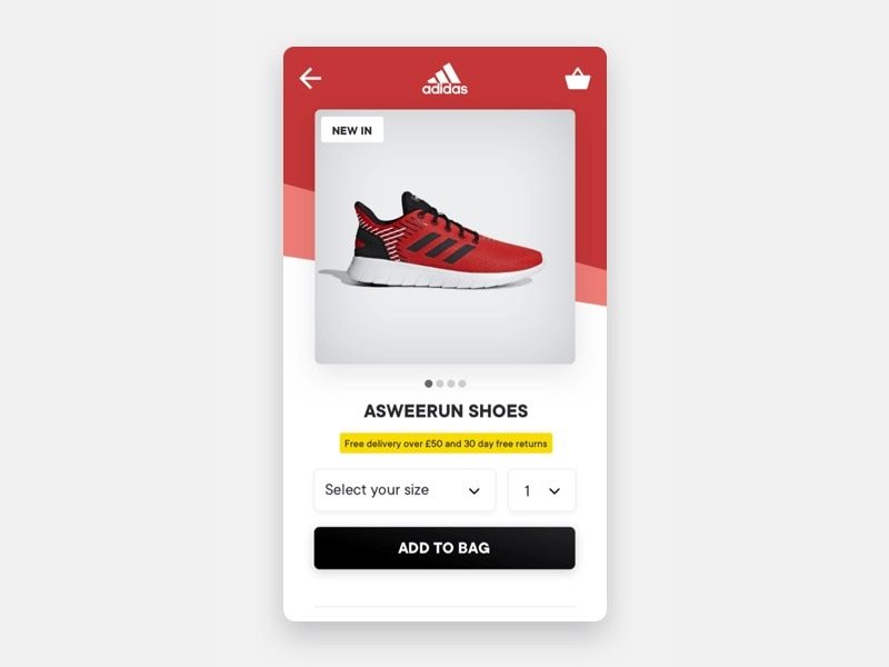 Adidas Product Page UI