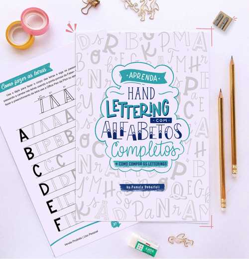 Capa Apostila 10 Alfabetos completos para aprender hand lettering