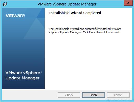 VMware vSphere Update Manager - Installation 12