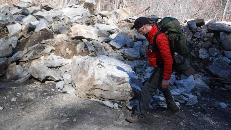 Ralph looking at rocks