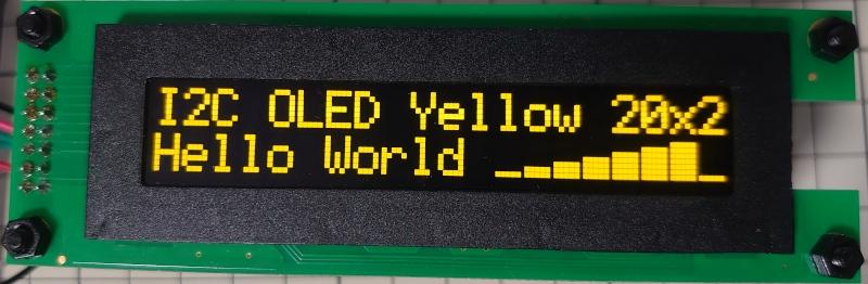 stm32とI2C接続の有機ELディスプレイSO2002AでHello worldした。 cover image