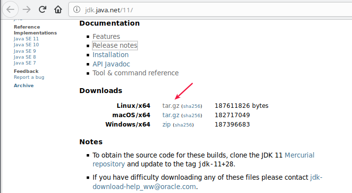 Download JDK 11