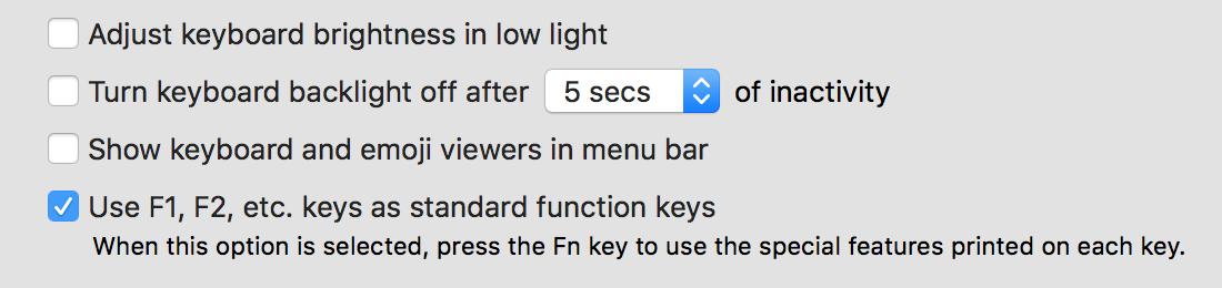 Keyboard setting inMac