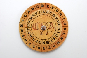 21.1: Confederate Cipher Disk for implementing the Vigenère cipher