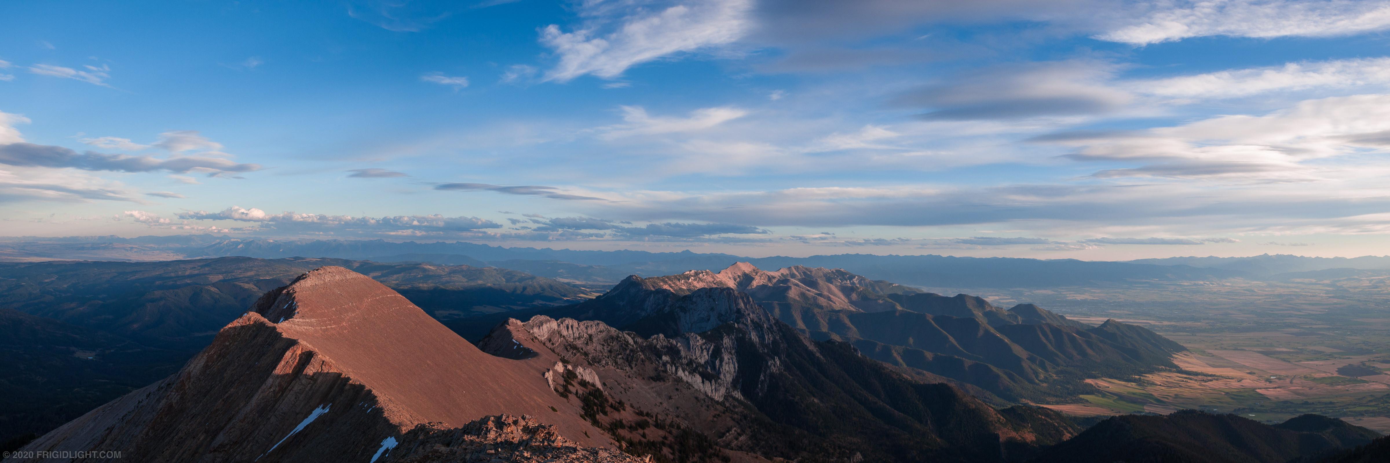 Bridger Range Sunset Panorama