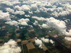Coming back down through the clouds near Amsterdam.  above Lelystad, Netherlands, 2017
