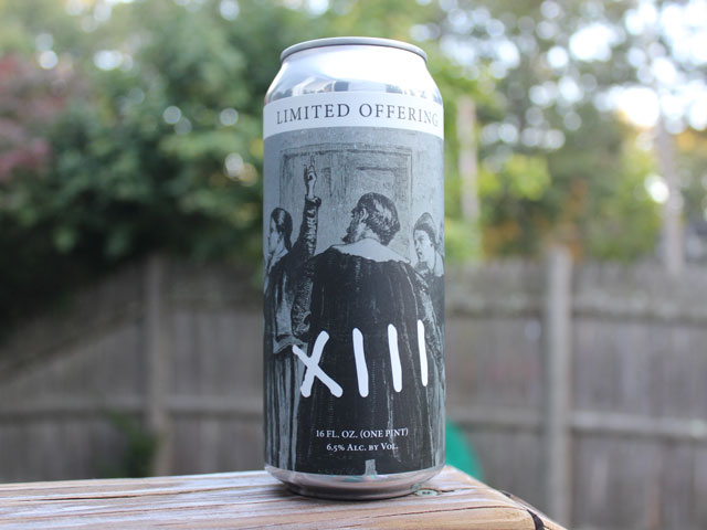 XIII, a New England IPA brewed by Amory's Tomb Brewing Company