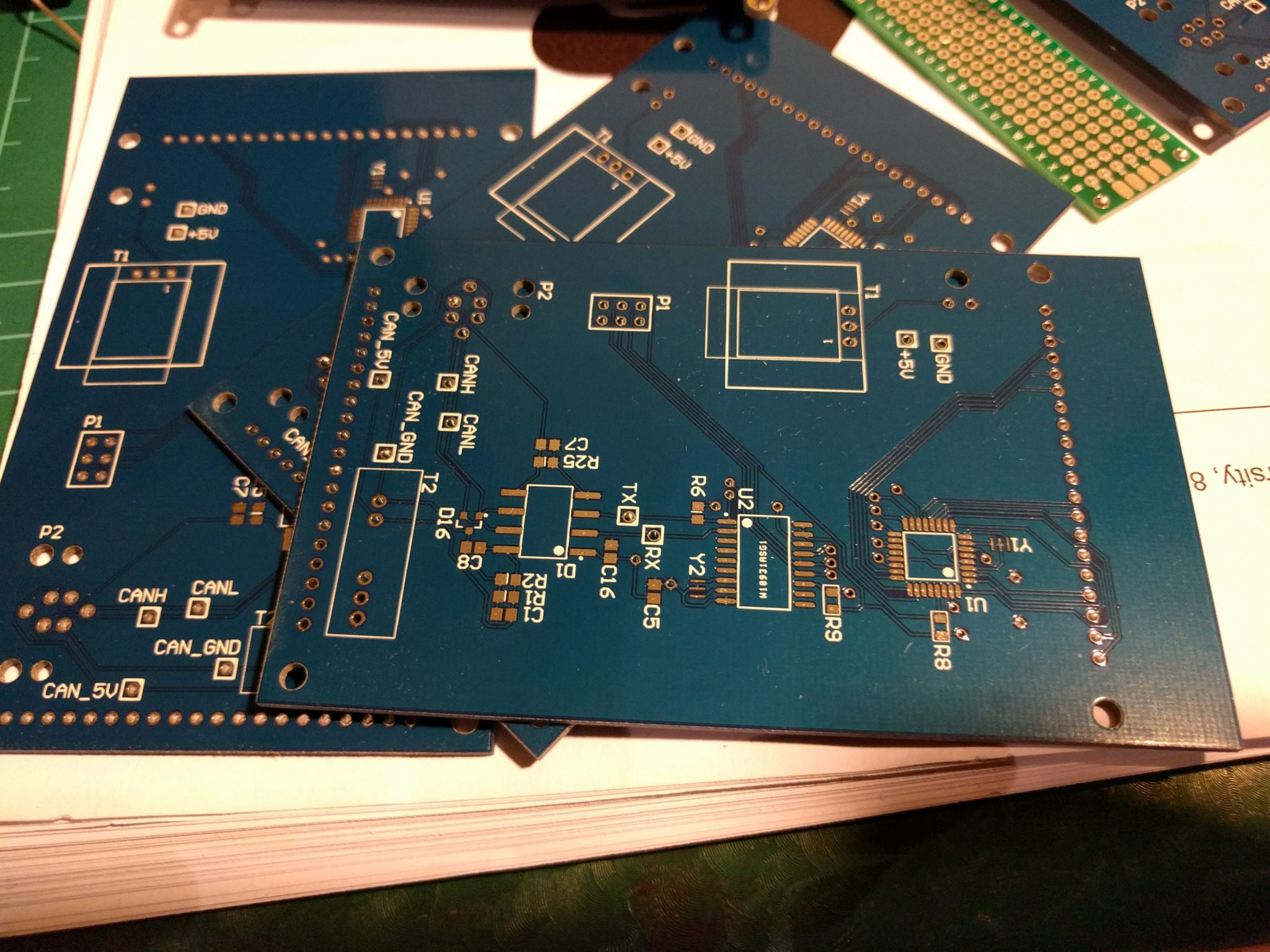 Driver Display PCB - My first order with PCBWay was for a PCB for my final year project, double sided 1.6mm board, 6/6 minimum spacing, blue with white silkscreen and HASL finish.