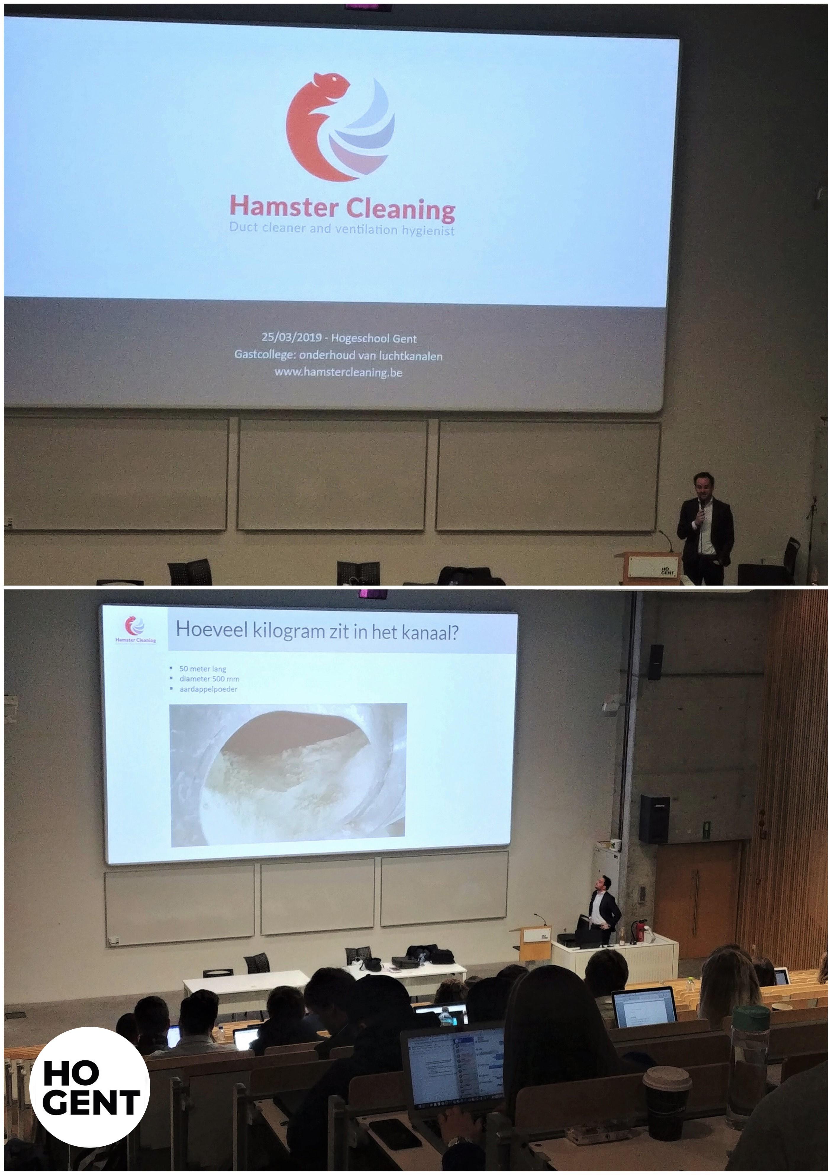 Hamster Cleaning doceert in reine ventilatiesystemen.