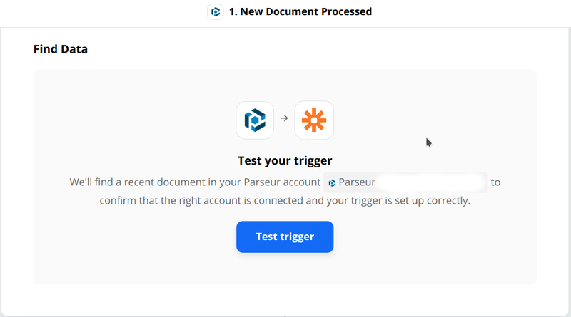 Zapier will test your trigger