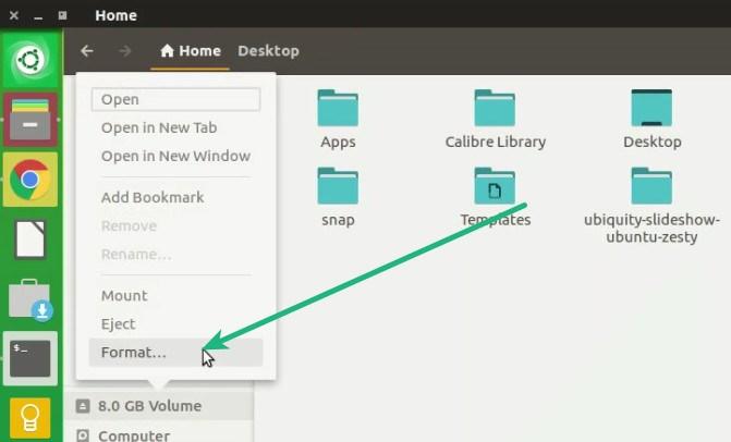 Cara format flashdisk di ubuntu