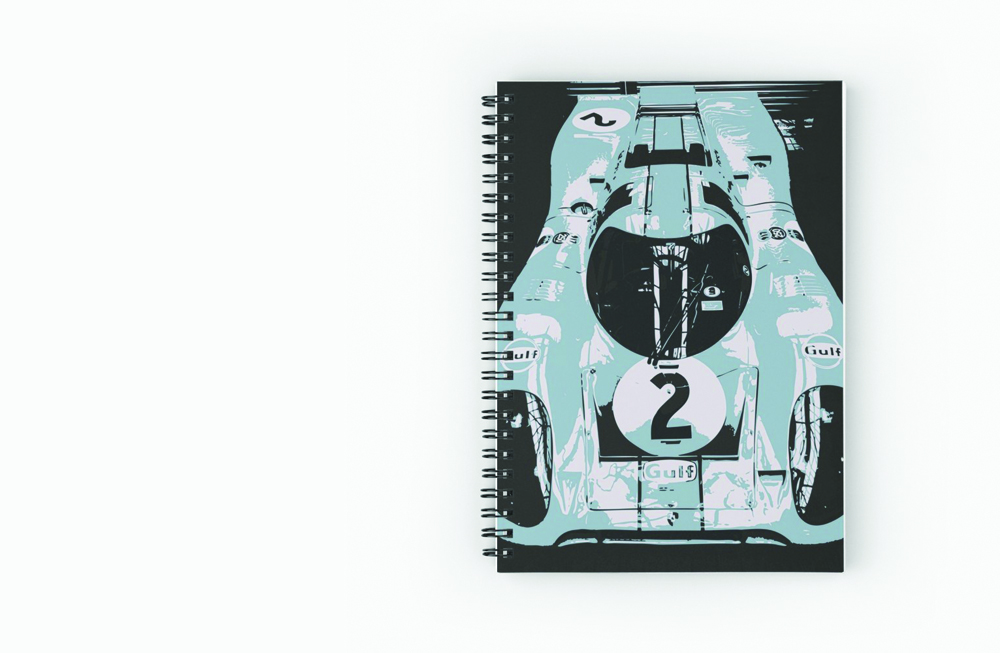 Porsche 917K Spiral Notebook by thespeedart