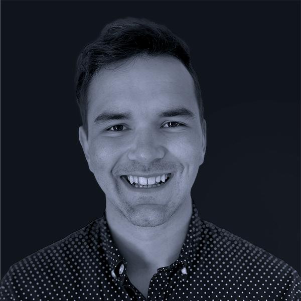 Black and white photo of Mojo Jamie White