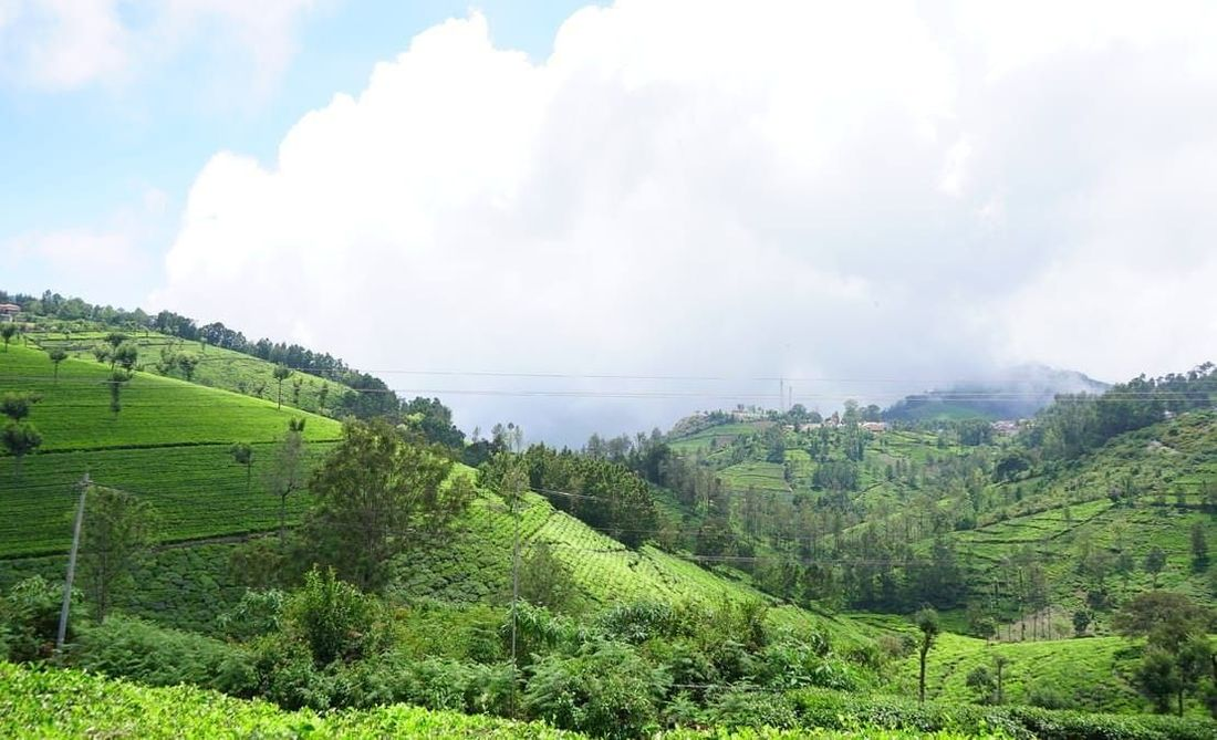 A clear picture towards Kodamalai village and temple