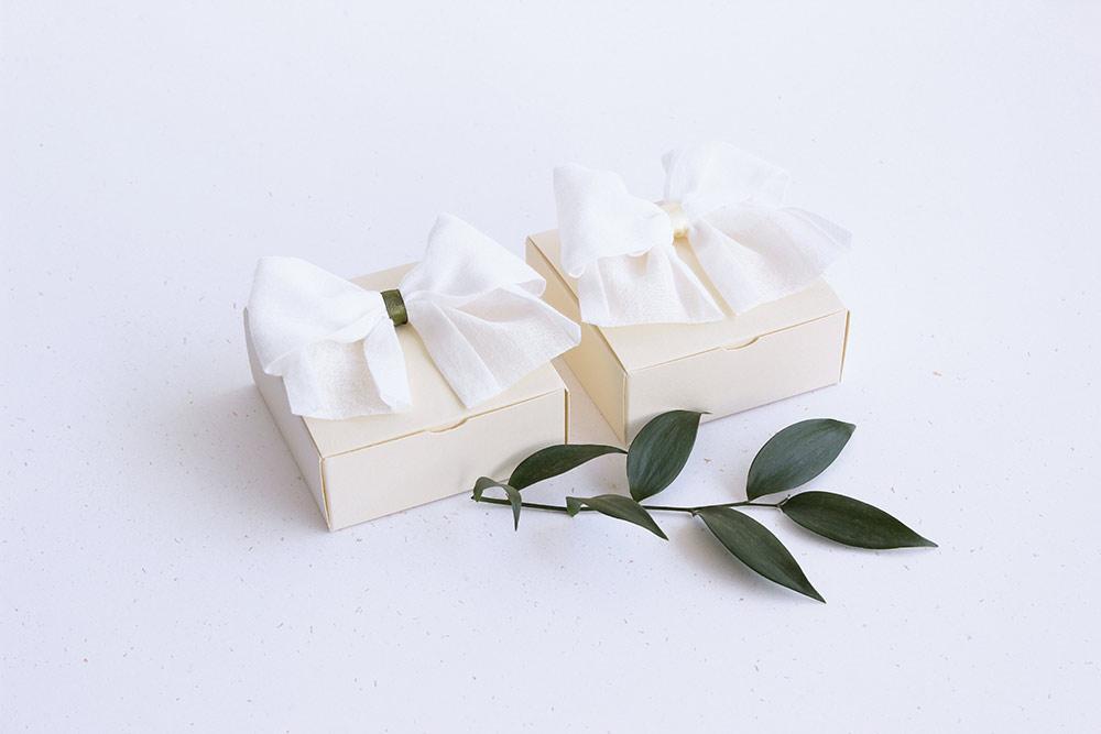 Čtvercová skládací krabička na drobné dárky