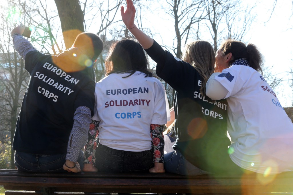 European Solidarity Corps volunteers