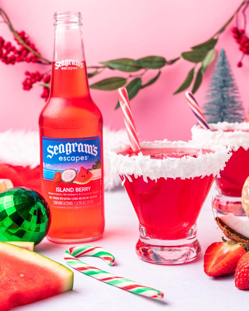 Santa Hat Martini Photo