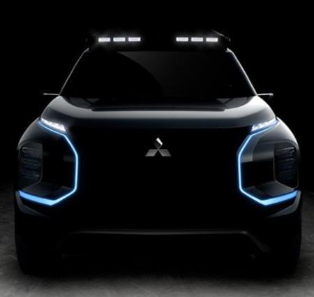 Teaser image of Mitsubishi's upcoming SUV EV