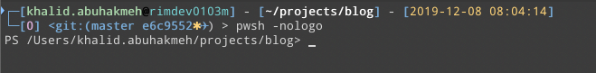 powershell without nologo