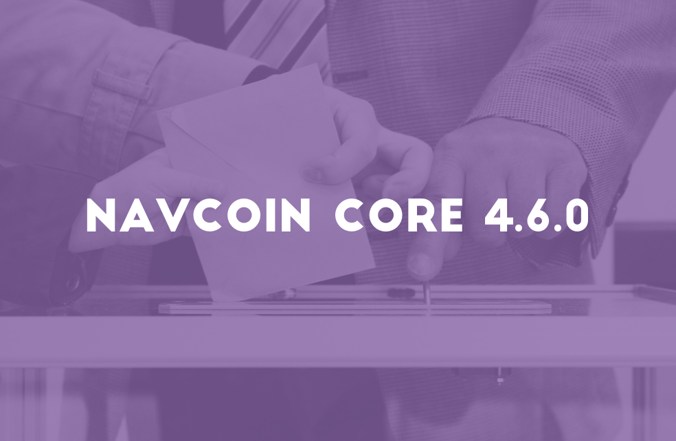 NavCoin Core 4.6.0 Released