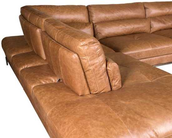 Homingxl Loungebank Titan Chaise Longue Linksleer Cognac 9200000081222450_4 270 cm