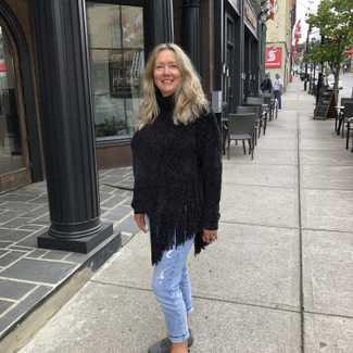 Michael Kors Heather Chennile Tassle Sweater