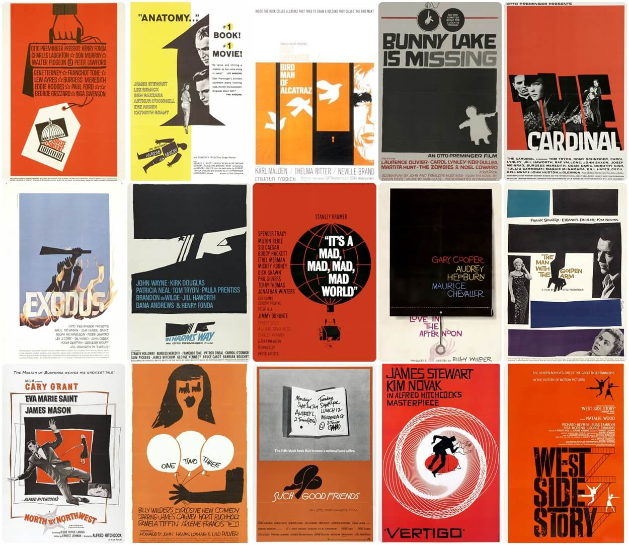 Collection of Saul Bass posters