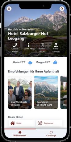 Startseite der digitalen Gästemappe