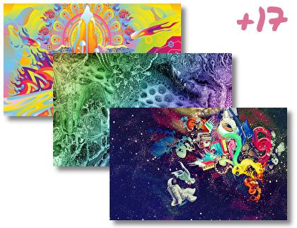Psychedelic theme pack