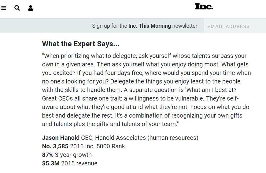 INC.com's post