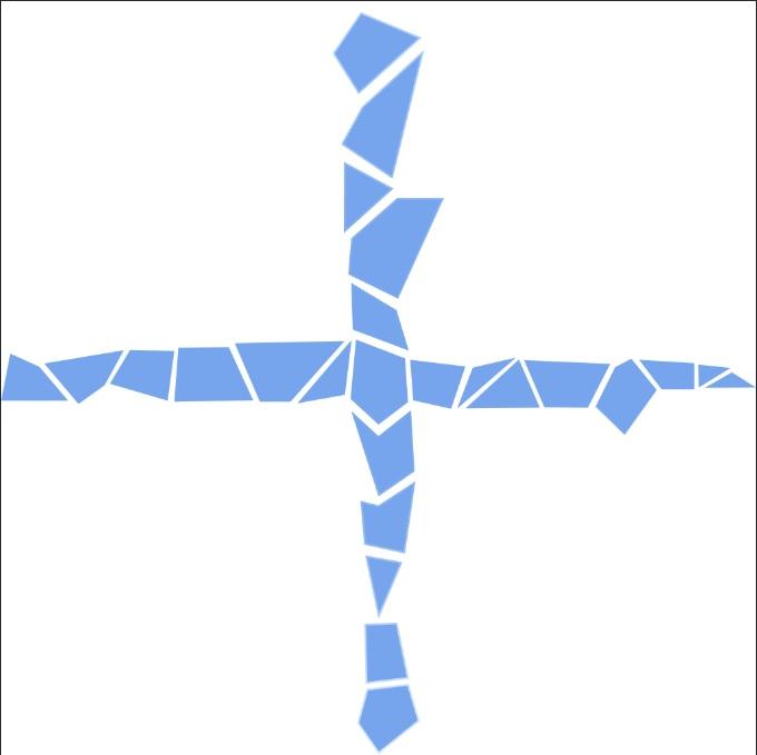 seamless texture border as a cross
