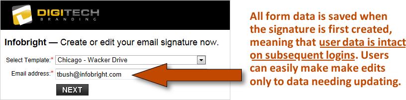 email signature listing