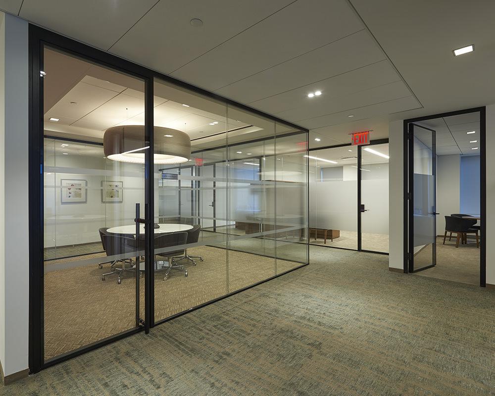 Horizon Hallway with Glass doors and Walls