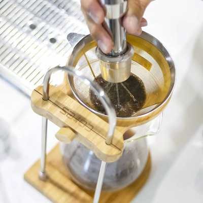 We recommend pour-over coffee made using the CORES Gold Cone Filter which does best to highlight the pure flavours and aroma of our coffee beans. It is also environmentally friendly as it removes the consumption of paper filters. Request for your pour-over to be made with our new Gold Filter at What's On Tap today!