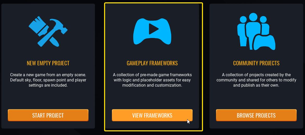 Choose A Game Framework