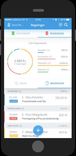 Billy regnskabsprogram mobile app v2