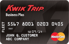 Kwik trip business plus card