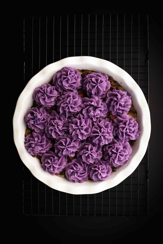 Purple Vegan Shepherd's Pie