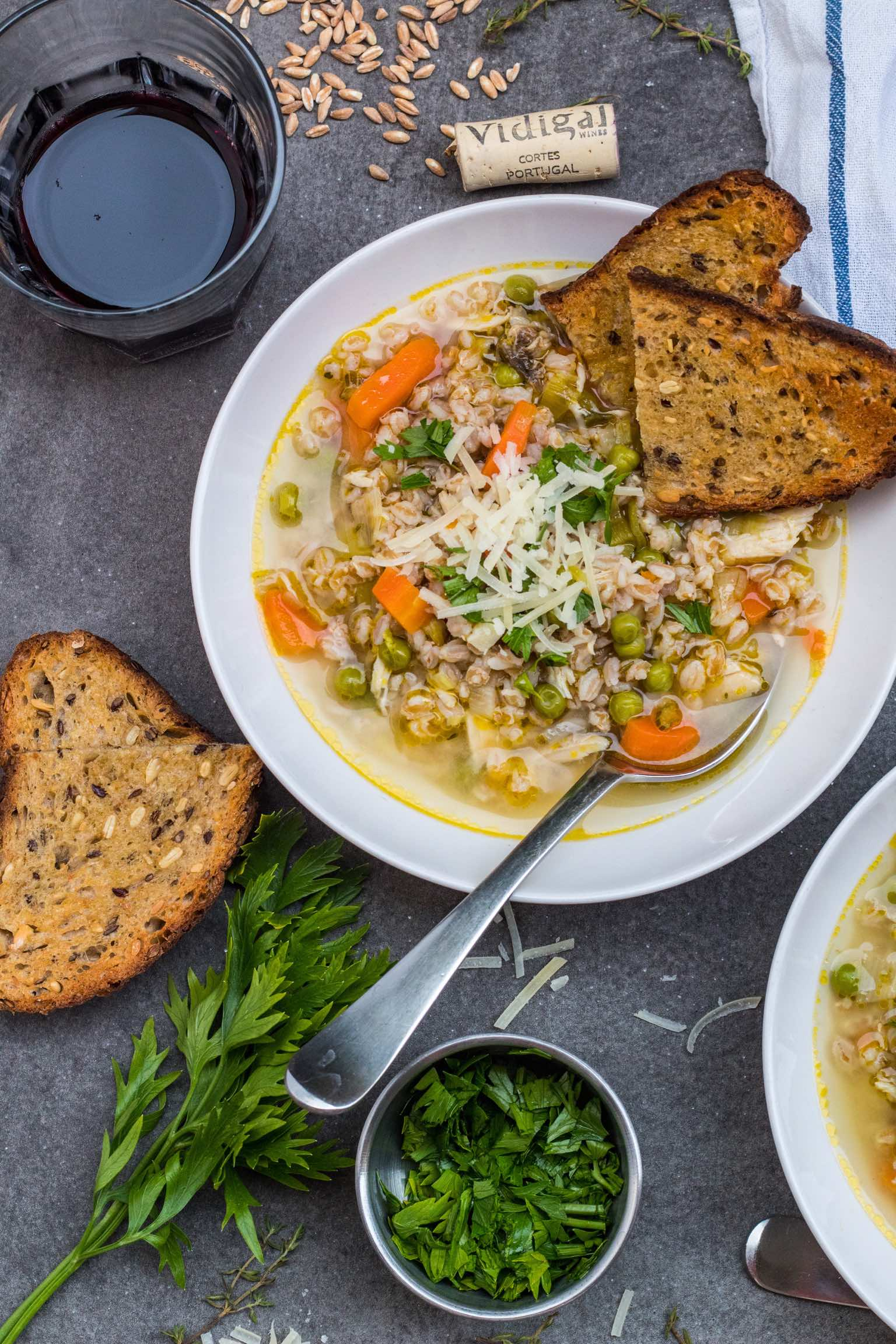 Chicken Farro Soup
