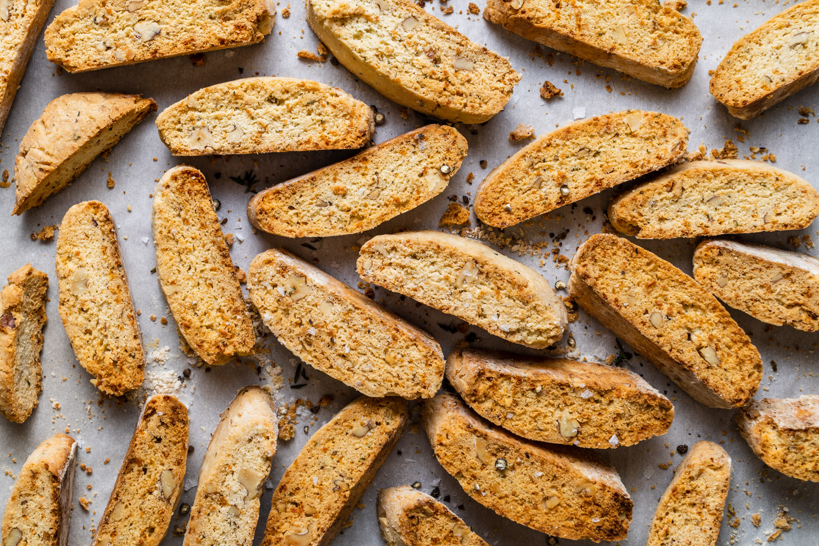 Savoury Parmesan and Herb Walnut Biscotti (Paximadia)