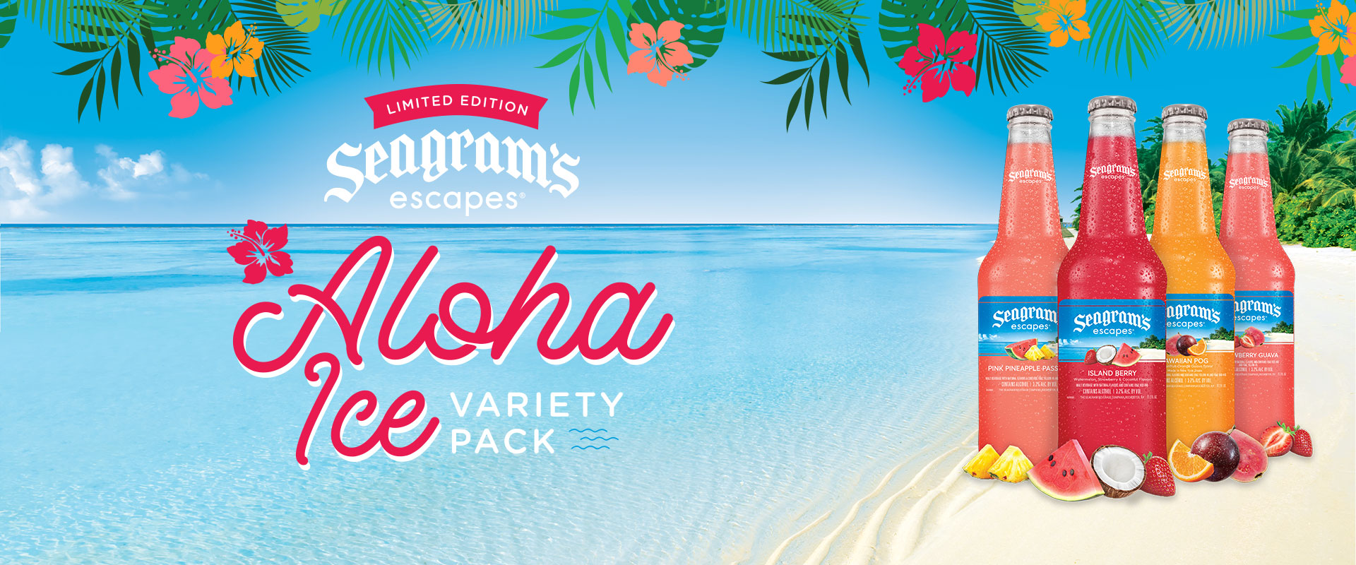 Seagram's Escapes Aloha Ice Variety Pack