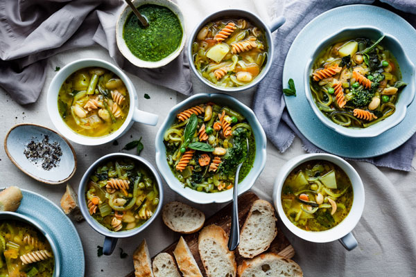 One Pot Vegan Green Minestrone