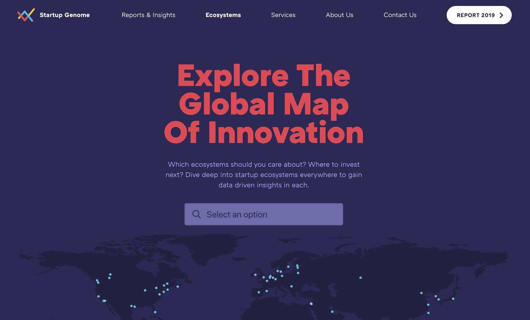 Startup Genome website
